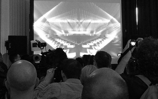 Første glimt af scenen i ESC 2014
